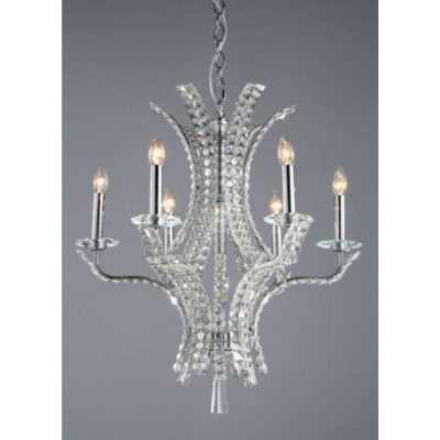 BALTIMORE 6 LIGHT CRYSTAL CHANDELIER