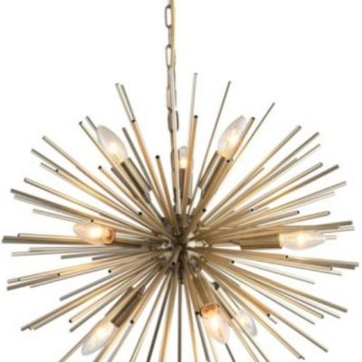 BURSTING STAR antique brass PENDANT LIGHT