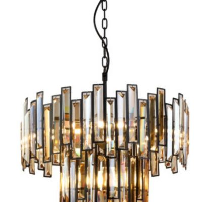amber and black pendant light