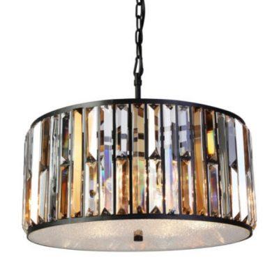 amber and black round pendant light