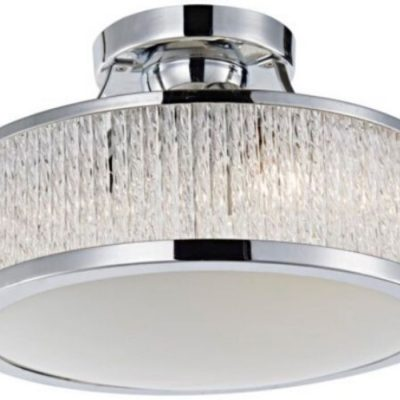 bordeaux 3 light crystal flush pendant