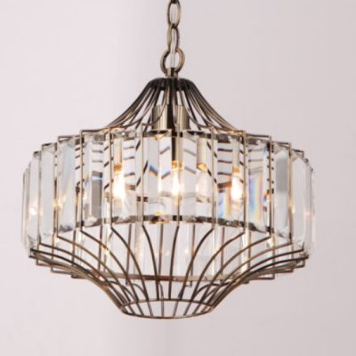 davida antique brass pendant light