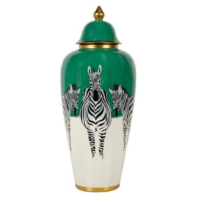 large zebra jar