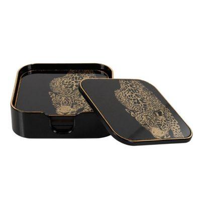 leopard coasters set5