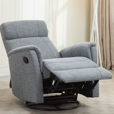 marley swivel recliner blue