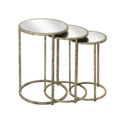 mindy brownes mirror top nest of 3 tables meath