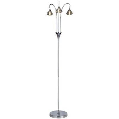 zevio 3l polished chrome floor lamp