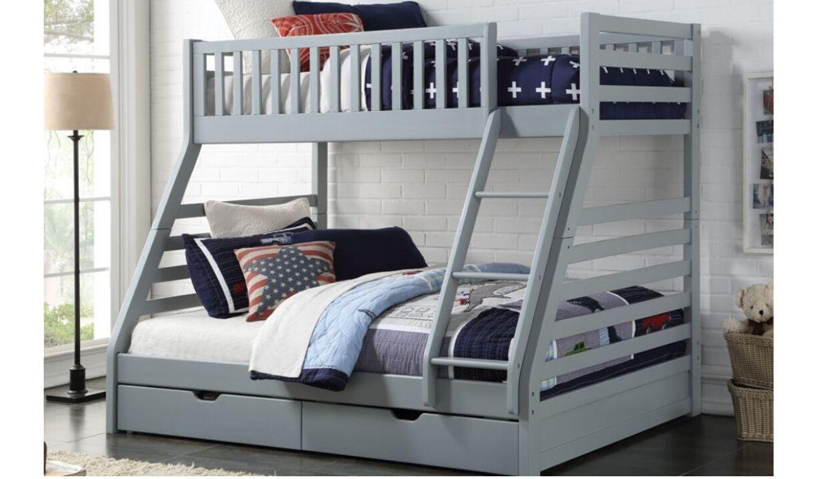 grey space bunk bed