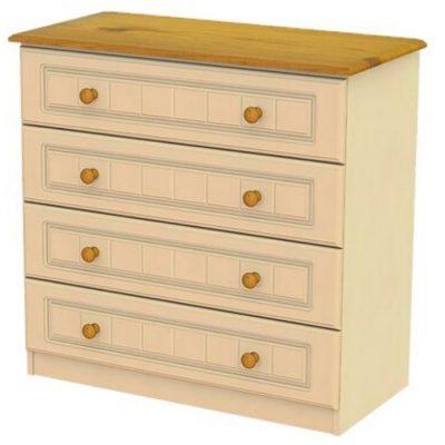 troscan ivory 4 drawer chest