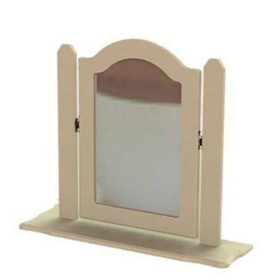 troscan ivory dressing table single ornate mirror