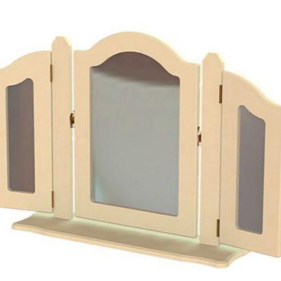 troscan ivory dressing table triple ornate mirror