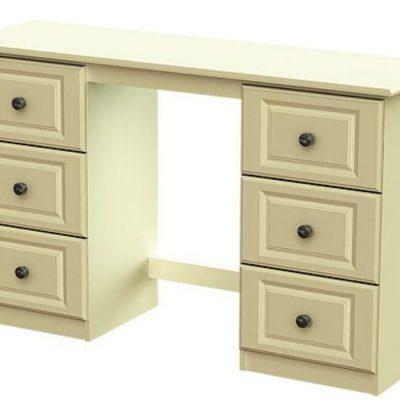troscan white double dressing table