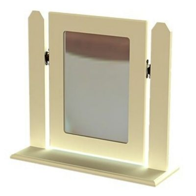troscan white dressing table single square mirror