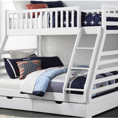 white space bunk bed