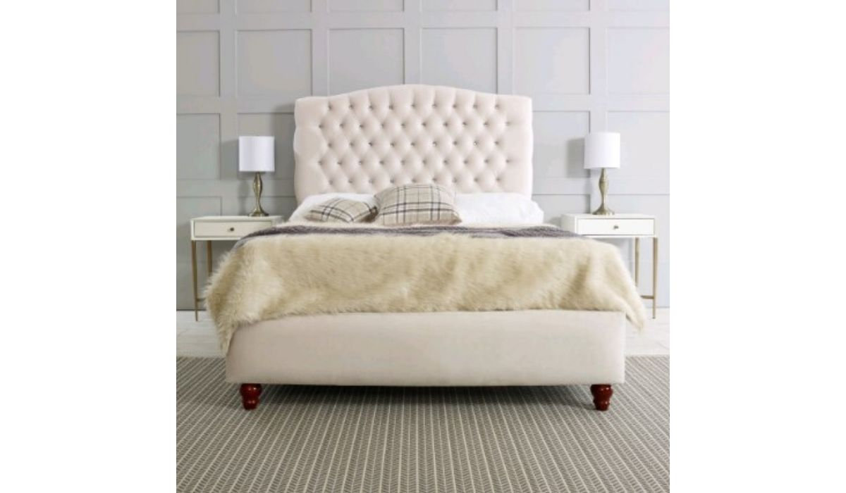 Flora Upholstered bedframe meath