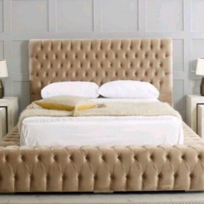 Stella Upholstered bedframe meath
