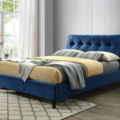 megan upholstered bedframe blue meath