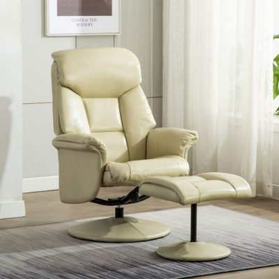 Kenmare Chair and Footstool beige meath