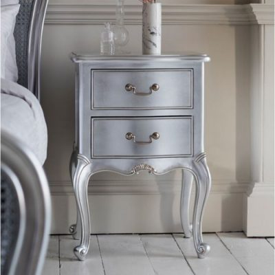 chic silver bedside table meath