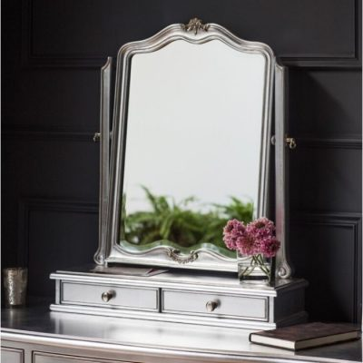 chic silver dressing table mirror meath