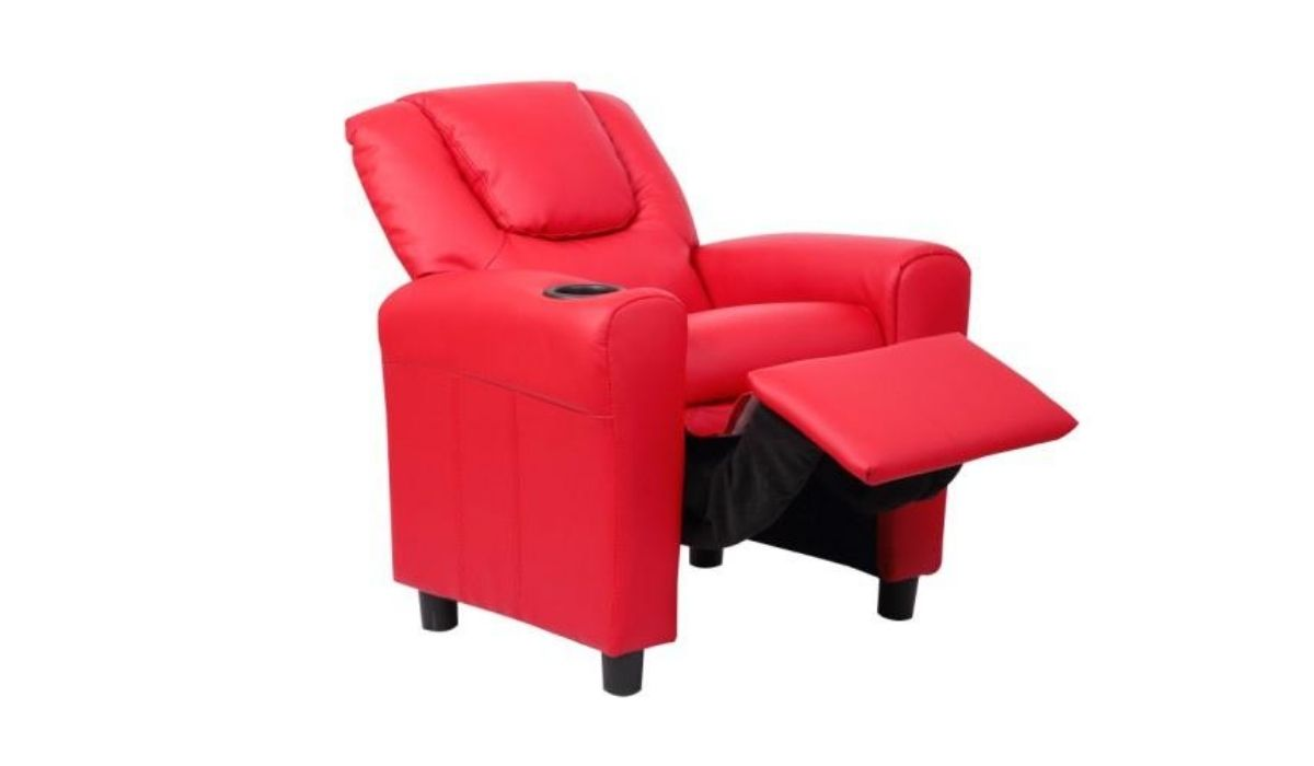 kids recliner red meath