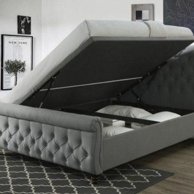 morgan grey ottoman bed meath