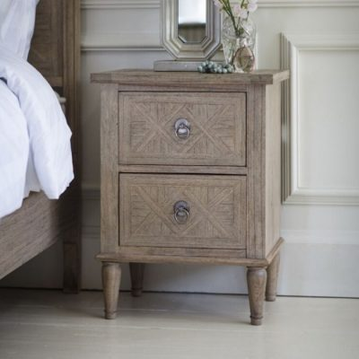 mustique 2 drawer bedside table meath