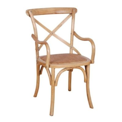 cross back armchair natural meath