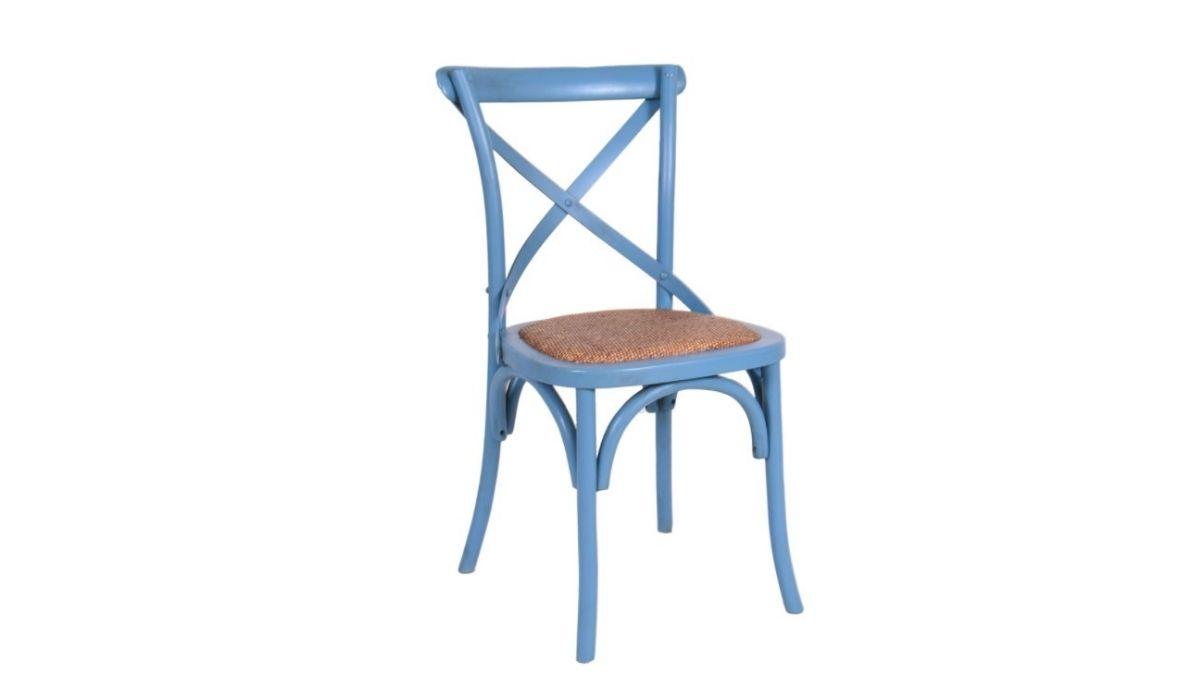 cross back chair blue meath