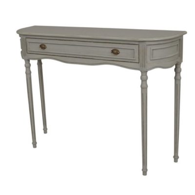 heritage grey and gold console table meath