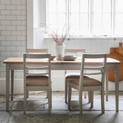 bronte extending dining table taupe meath