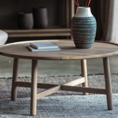 kingham round coffee table oak meath