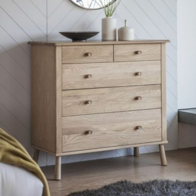 wycombe 5 Drawer Chest Oak meath