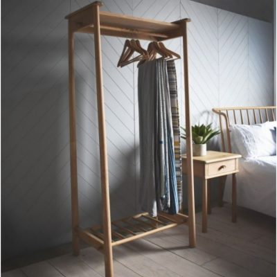 wycombe open wardrobe natural meath