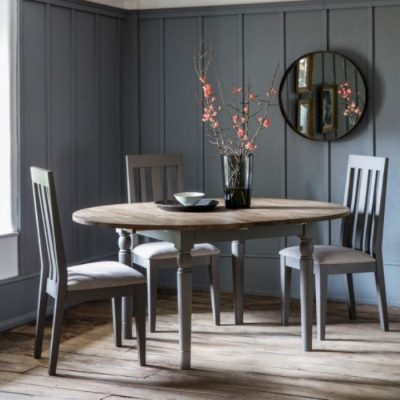 cookham round extending dining table grey meath