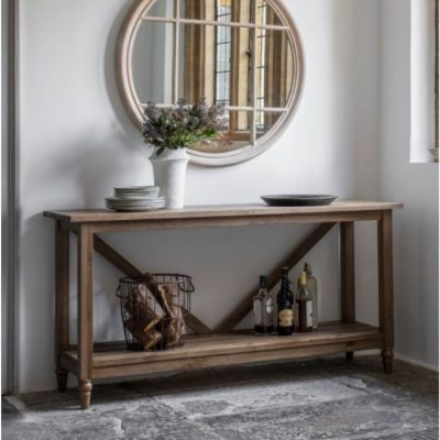 cookham trestle console table oak meath