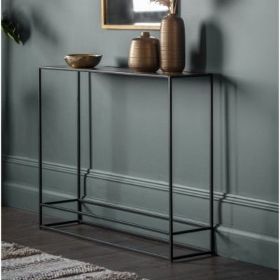 hadston console table antique gold meath