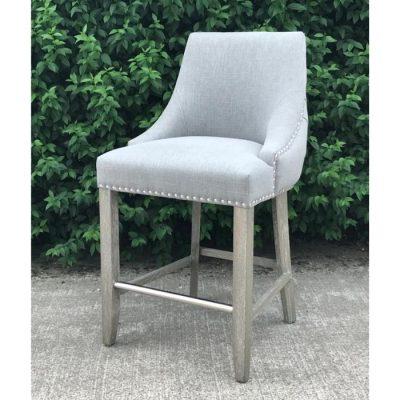 hayley counter stool linen grey meath