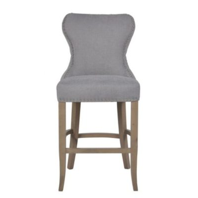 Guia button back counter stool grey meath