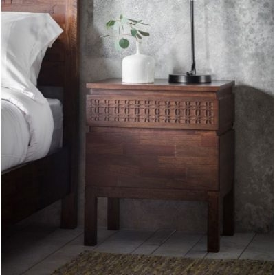boho retreat bedside 2 drawer chest meath