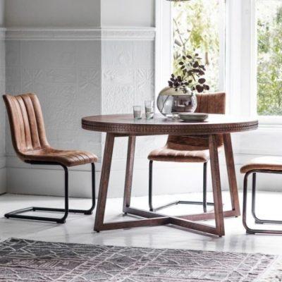 boho retreat round dining table meath