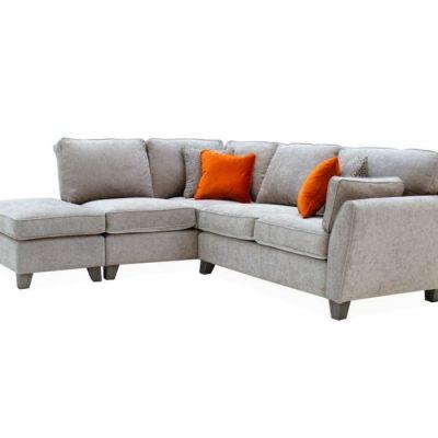 cantrell corner silver sofa LHF meath