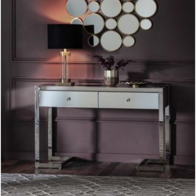 cutler 2 drawer mirrored console meath