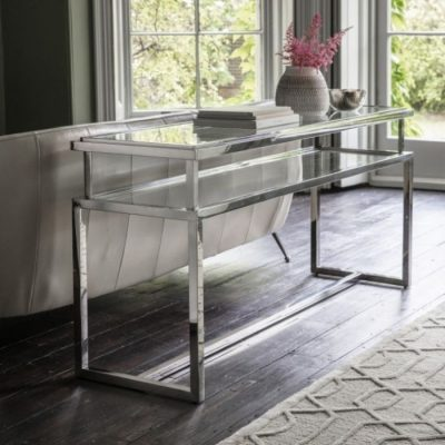 salerno console table silver meath