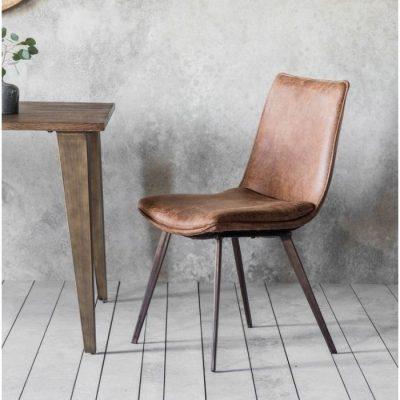 Hinks Chair (2PK) Brown meath