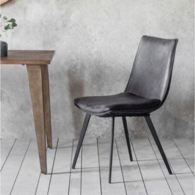 Hinks Chair (2PK) Grey meath
