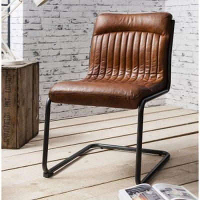 capri leather chair brown meath