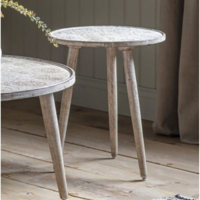 agra side table white meath
