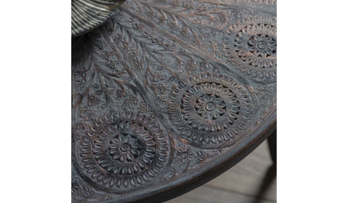 agra coffee table top grey copper meath
