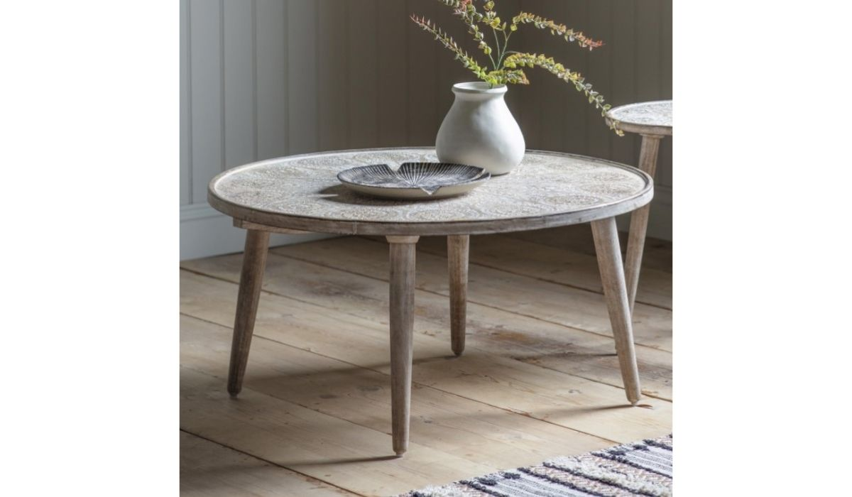 agra coffee table white meath